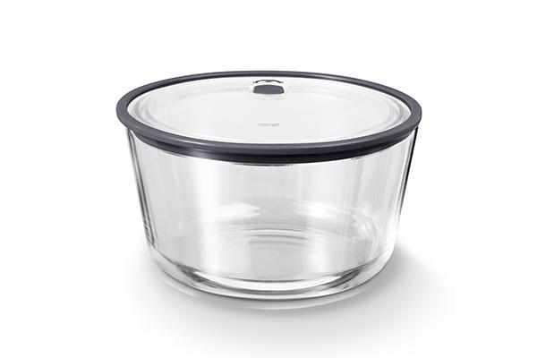 圓形耐熱玻璃保鮮盒(特大)2,700ML