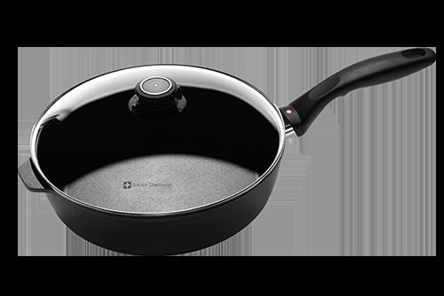 瑞仕鑽石圓深煎鍋(含蓋) 26cm