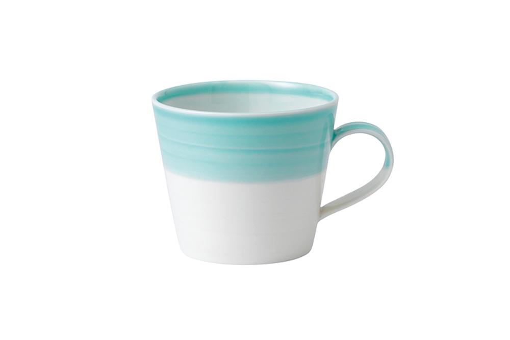 日安生活馬克杯,容量:400ml;共4色(綠/黃/紫/紅),隨機出貨