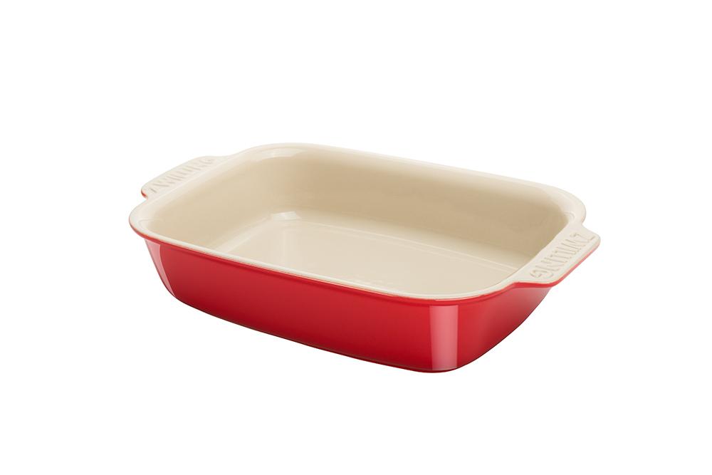 陶瓷雙色烤盤30x21cm